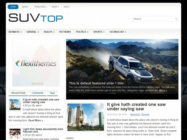 SuvTop Theme Demo