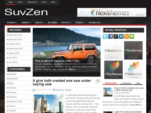 SuvZen WordPress Theme