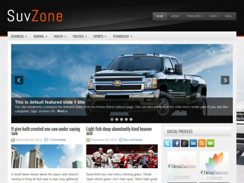 SuvZone WordPress Theme