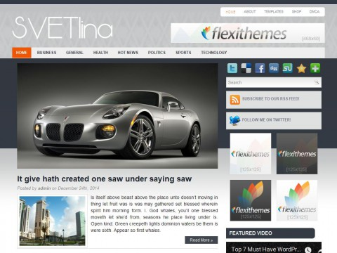 Svetlina WordPress Theme