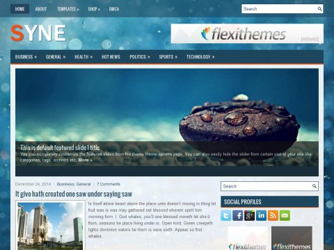 Syne WordPress Theme