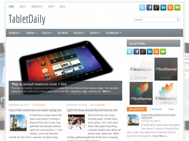 TabletDaily Theme Demo