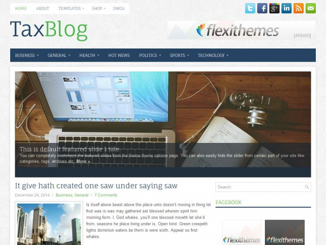 TaxBlog Theme Demo