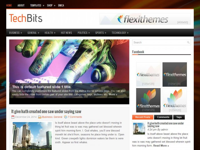TechBits Theme Demo