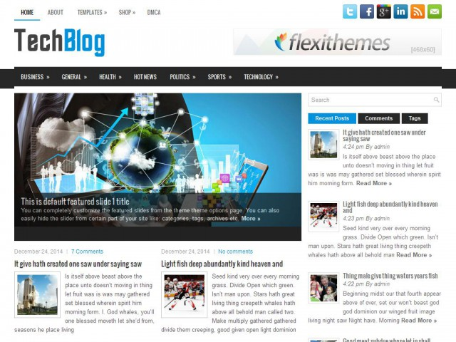 TechBlog Theme Demo