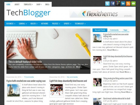 TechBlogger WordPress Theme