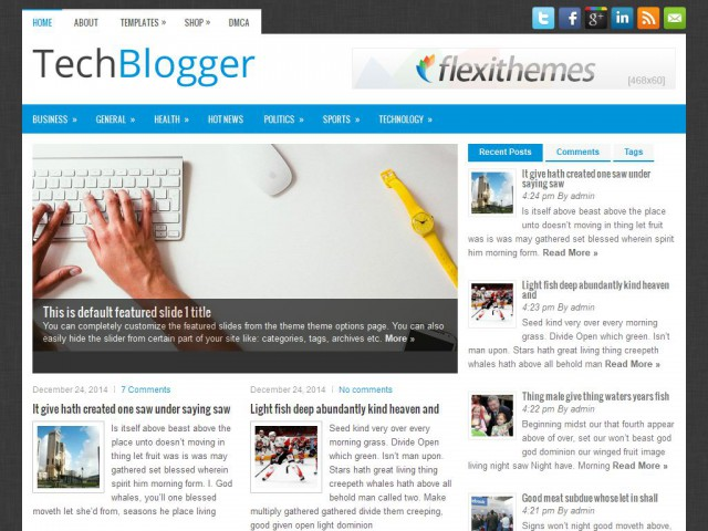 TechBlogger Theme Demo