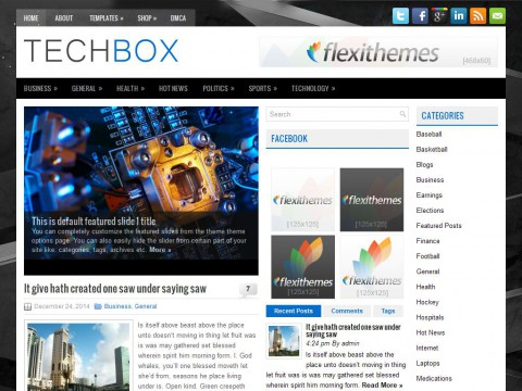 TechBox WordPress Theme