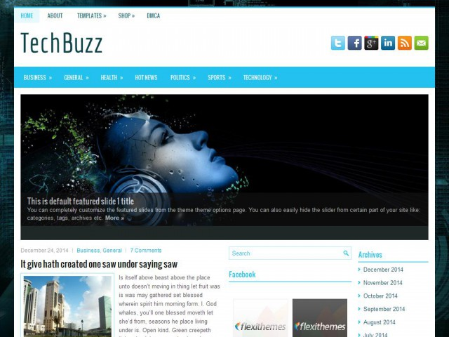 TechBuzz Theme Demo