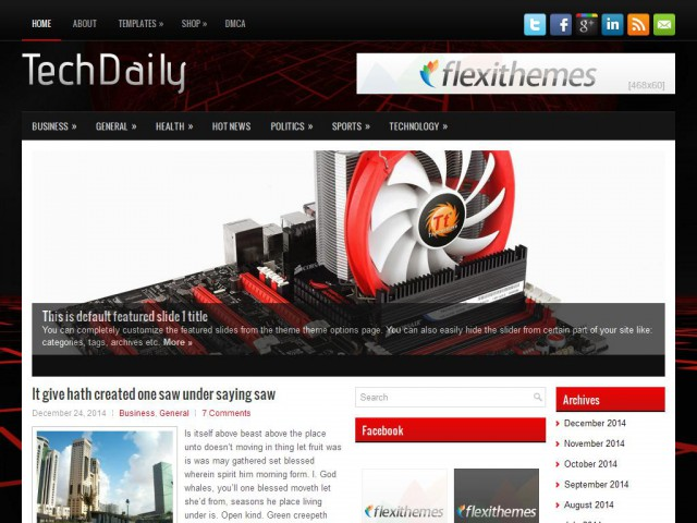 TechDaily Theme Demo