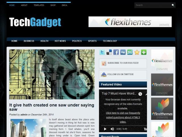 TechGadget Theme Demo