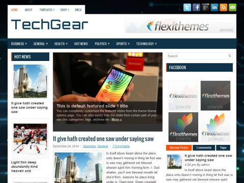 TechGear WordPress Theme