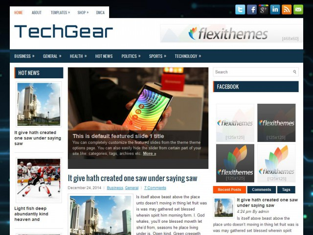 TechGear Theme Demo