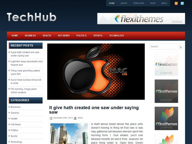 TechHub Theme Demo