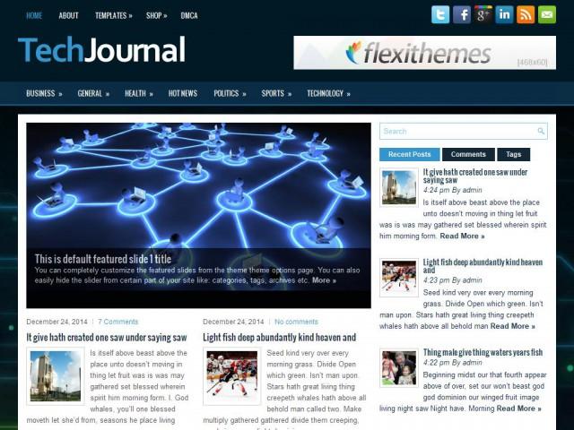 TechJournal Theme Demo