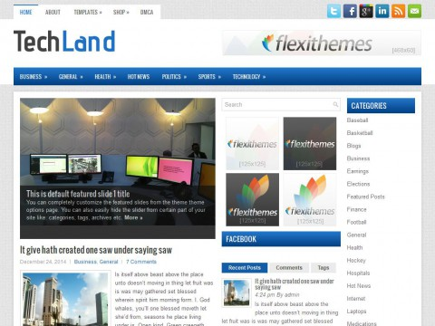 TechLand WordPress Theme