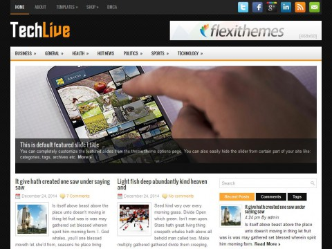 TechLive WordPress Theme