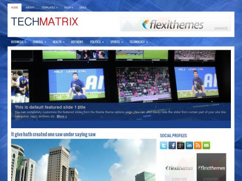 TechMatrix WordPress Theme
