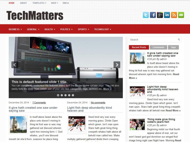 TechMatters Theme Demo