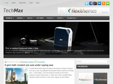 TechMax WordPress Theme