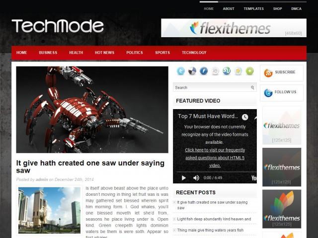 TechMode Theme Demo