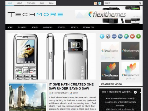 TechMore WordPress Theme