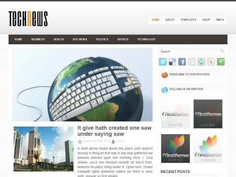 TechNews WordPress Theme