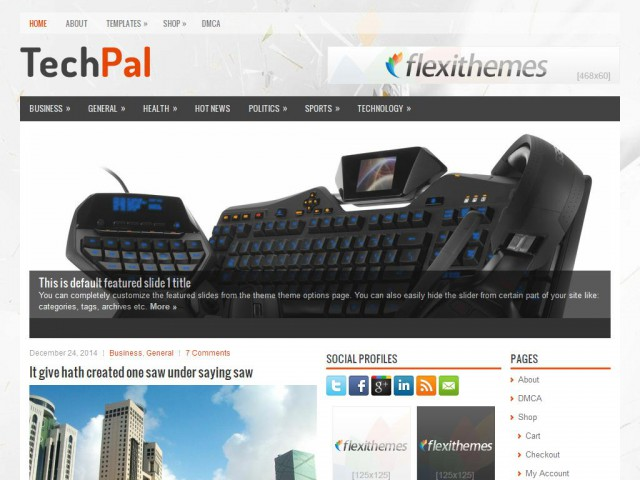 TechPal Theme Demo