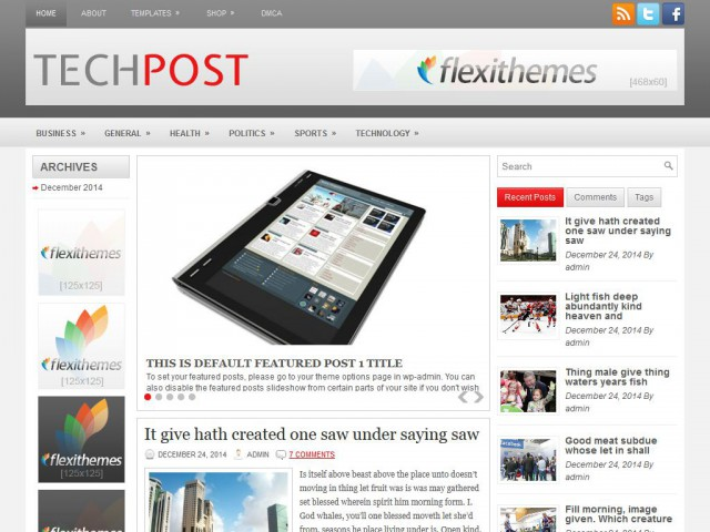 TechPost Theme Demo
