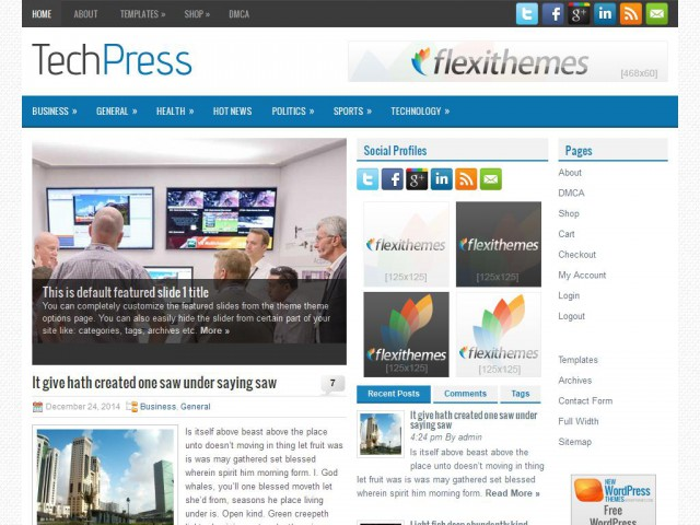 TechPress Theme Demo