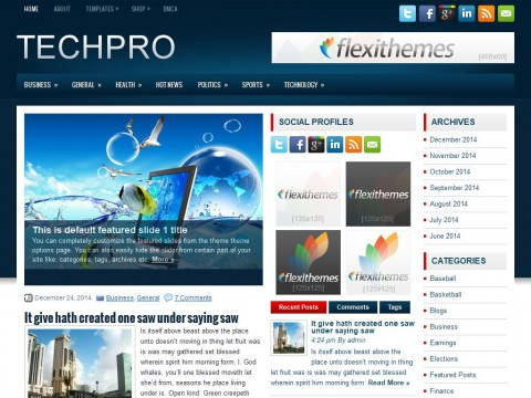 TechPro WordPress Theme