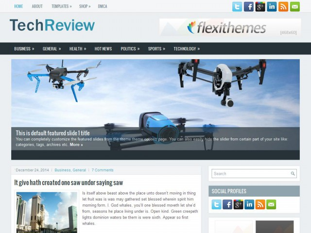 TechReview Theme Demo