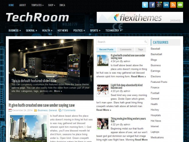 TechRoom Theme Demo