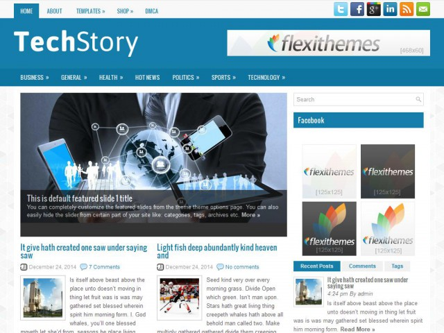 TechStory Theme Demo