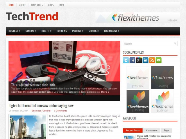 TechTrend Theme Demo