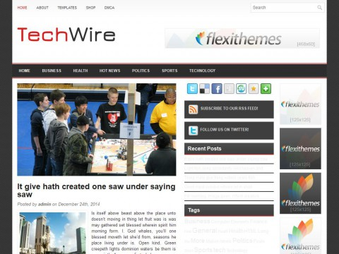 TechWire WordPress Theme