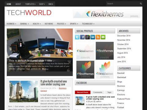 TechWorld WordPress Theme