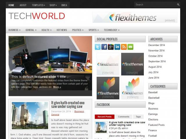 TechWorld Theme Demo