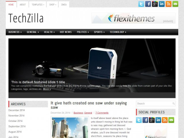 TechZilla Theme Demo