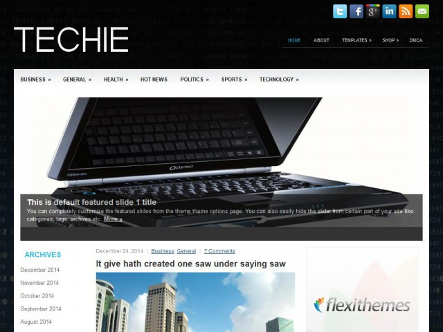 Techie Theme Demo