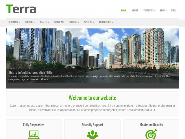 Terra Theme Demo