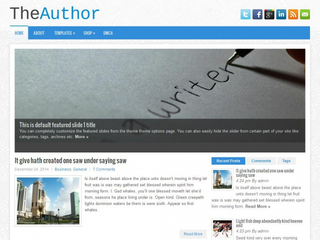 TheAuthor Theme Demo
