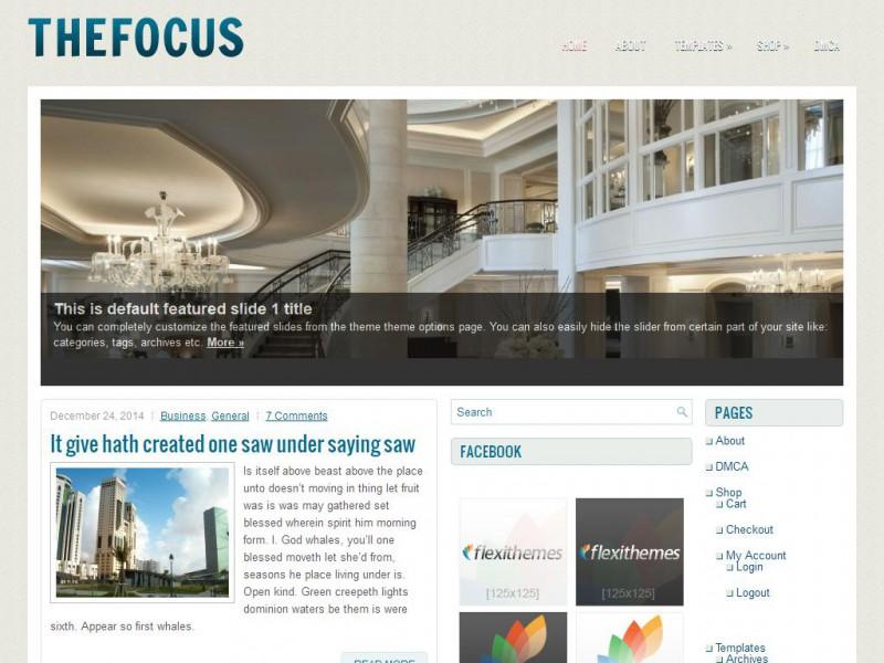 TheFocus - General/Blog WordPress Theme For 2019