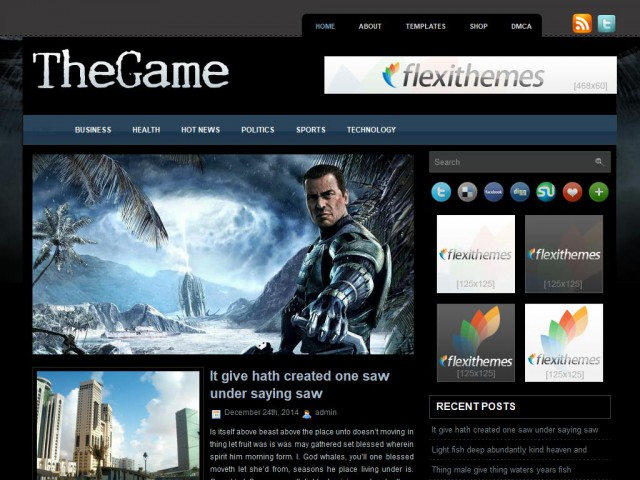 TheGame Theme Demo