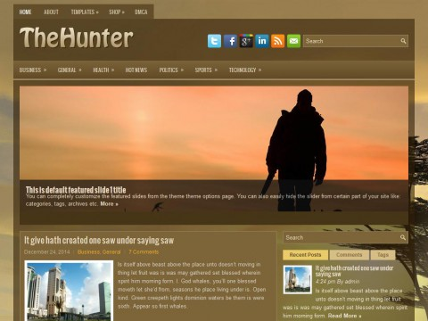TheHunter WordPress Theme