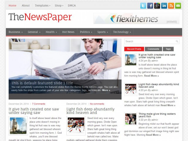 TheNewsPaper Theme Demo