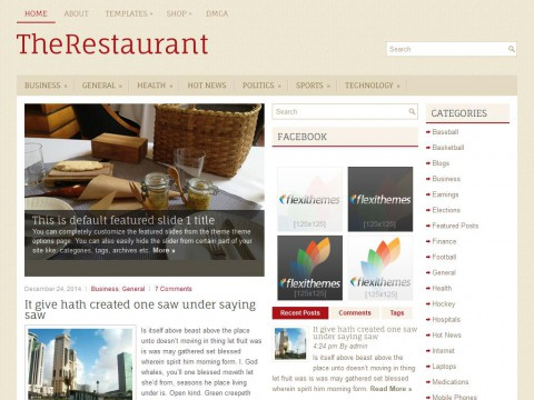 TheRestaurant WordPress Theme