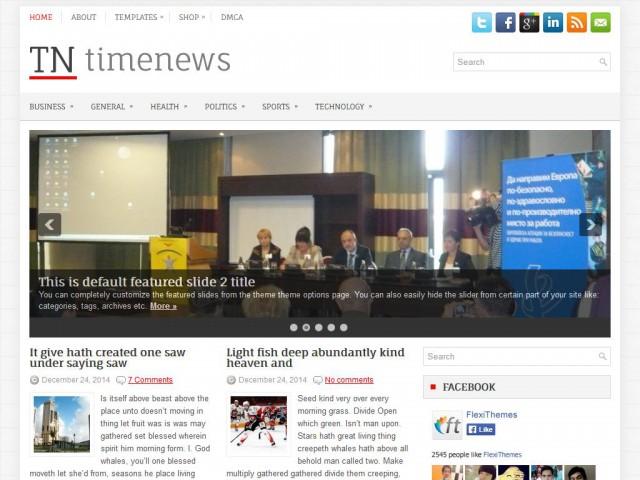 TimeNews Theme Demo