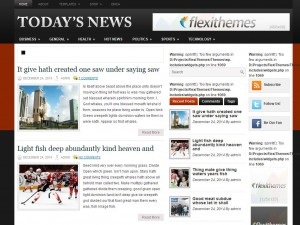 Todays News WordPress Theme