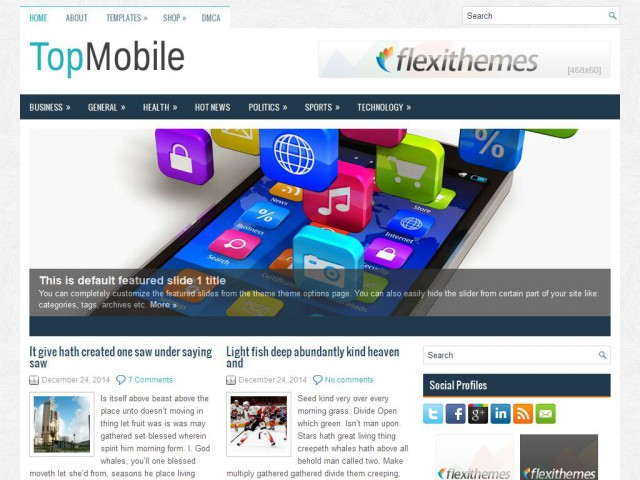 TopMobile Theme Demo